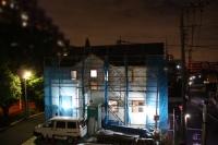 夜の建築中!新モデルハウス.jpg